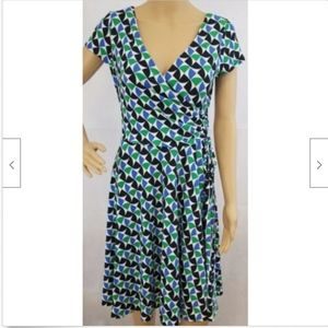 Maggy London Womens Dress 10P 10 petites faux wrap